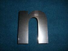 Buchstabe Edelstahl Metall V2A 7,5 x 6,5 cm 'n' n für Hausnummer etc.