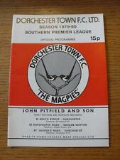 11/03/1980 Dorchester Town v Folkestone & Shipway  (Light Crease/Fold)