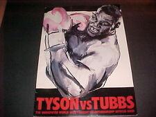 TYSON VS TUBBS 1988 (ULTRA RARE) OVERSIZED BOXING PROG
