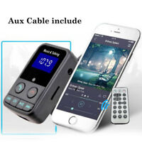 BT600 Bluetooth Sans fil Kit Voiture FM Transmetteur USB Chargeur TF Télécommand