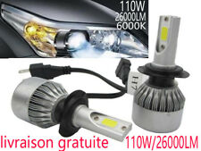 110W 26000LM H7 CREE LED Ampoule Voiture Feux Lampe Kit Phare Light Blanc 6500K