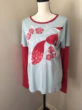 NWT Fox Graphic Organic Cotton Long Sleeve T-Shirt Green3 Apparel USA Size L