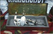 Antique Moldacot English Portable Sewing Machine , Tin