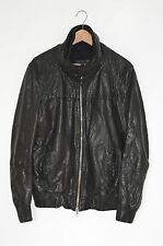 **AWESOME** VGC AllSaints Mens Approach Leather Bomber Jacket MEDIUM Biker