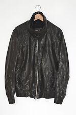 **AWESOME** VGC AllSaints Mens Approach Leather Bomber Jacket MEDIUM Biker