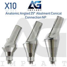 10 Anatomic Angular Abutment 25° NP Conical Connection Titanium Dental Implant
