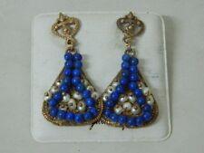 Orecchini pendenti con Calcedonio e Perline Collezione GATTOPARDO OMA19