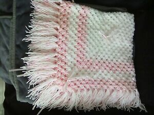 Hand made crochet hand made baby shawl/blanket for anmag-2817 only