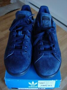 Rare ADIDAS Stan Smith Indigo Blue Suede S75107 Size 9US New with Tags