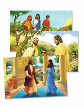 Vacation Bible School (VBS) 2014 Workshop of Wonders Bible Story Poster Set (5)
