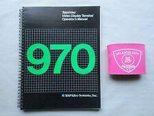 Televideo 970 Video Display Terminal Operators Manual 12244600-H