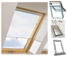 Dachfenster + Eindeckrahmen + Rollo Balio Rooflite Skylight Optilight Velux