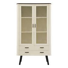 Style scandinave vitrine 2 portes 2 tiroirs-noir jambes 95cm 87cm 170cm