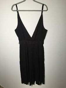 One Teaspoon womens black jumpsuit size XL aus 14 viscose sleeveless good condt