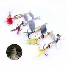 1Set Spinner Bait bass pêche leurres de pêche Spinner appâts Crochets avec Tackle Box