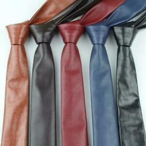 100% REAL LAMBSKIN LEATHER CLASSIC COLLECTION HANDMADE NECK TIE FOR MEN