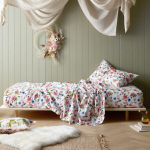Habitat Printed Cotton Fitted Sheet with Pillowcase(s) by Happy Kids