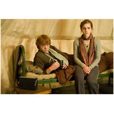 Harry Potter Ron And Hermoine Sitting On Cot In Tent 8 x 10 Inch Photo