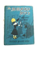 The Blue-Nosed Witch by Margaret Embry, 1956 Vintage Children's Book - Hardcover