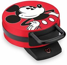 "Disney DCM-12 Nonstick Mickey Mouse Waffle Maker 6"" Non-skid Rubber Feet, Red"