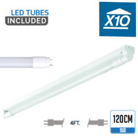 10 x 120CM LED BATTEN FITTING + LED TUBE LIGHT 4FT SINGLE FLUORESCENT LAMP