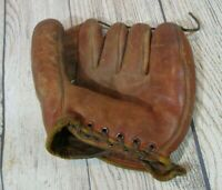 VTG 1940s Nokona Pinky Higgins Professional Model Cowhide Leather Glove Mitt