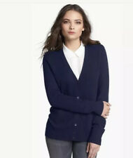 Equipment Femme Cardigan Sweater Womens Cashmere Wool Small Navy Blue
