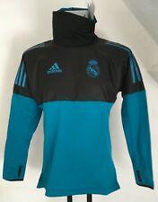 REAL MADRID BLACK/TURQUOISE HYBRID TOP BY ADIDAS SIZE ADULT SMALL NEW