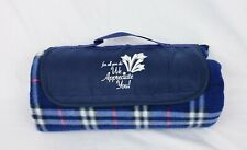 Outdoor Waterproof Travel Blanket Blue Plaid For All You Do New Sports Picnic