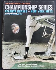 1969 ATLANTA BRAVES NLCS BASEBALL CHAMPIONSHIP SERIES PROGRAM v. NEW YORK METS
