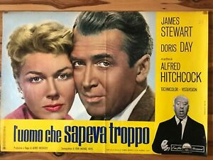 Original Italian Poster 28x28: The Man Who Knew Too Much (1956) Doris Day