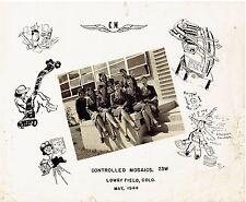 ORIGINAL WWII 'CONTROLLED MOSAICS' PHOTO GRADUATION CLASS-PHOTO INTELLIGENCE