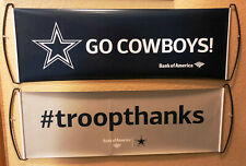 Two Dallas Cowboys Bank Of America FanBana Sign Banner Pennants New! You Get 2!