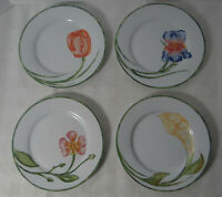 Pier 1 Set of 4 Dessert Salad Plates Floral 7 1/2""