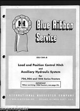 IH INTERNATIONAL 706,806,1206 TRACTORS HITCH,HYDRAULIC BLUE RIBBON SERVICE 7/66