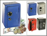Spardose Metall  Bank Safe Tresor Kombinationsschloss Sparschwein Blau