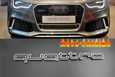 RS Style Quattro Emble Grille Badge Logo For Audi Q3 Q5 TT A1 A3 A4 A5 A6 A7 A8