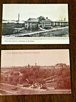 UNIVERSITY OF MINNESOTA, Minneapolis, MN, antique Postcard lot of 2 diff.