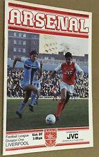 More details for arsenal v liverpool postponed 1981/82