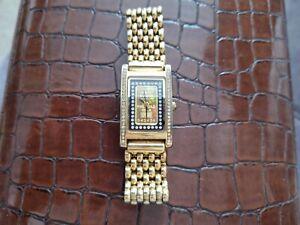 Ladies 999.9 Credit Suisse 1 Gram 24ct Fine Gold Ingot Yves Camani Watch