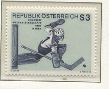 Österreich Austria 1235 Eishockey-Weltmeisterschaft, Torwart, Wien - 1967 **
