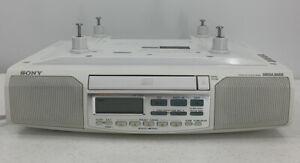 Sony ICF-CD513 Under Cabinet Counter Clock Radio AM/FM CD Mega Bass Tested