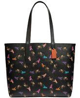 NEW COACH Dinosaur Rexy And Carriage Large Shopper Travel Tote Bag Handbag