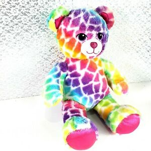 Build-A-Bear Lisa Frank Rainbow Spotted Leopard 18'' Heart Nose Embroidered Eyes
