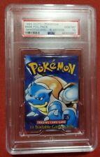 1999 WOTC Pokemon Base Foil Pack Shadowless Blastoise PSA 10 NM-MT
