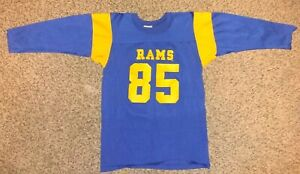 Vintage NFL 70s 80s Rawlings Los Angeles Rams Youth Kids Jersey Sz.L 14-16 #85