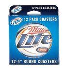 Miller Lite 12 Pack 4 Inch Round Coasters