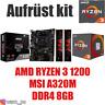 PC Bundle Kit Set ❤ AMD Ryzen 3 1200 ✔ MSI A320 Mainboard ✔ DDR4 8GB ✔