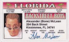 Alexander Bone McLean of the Backstreet Boys Drivers License - Back Street Boys
