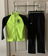 Under Armour Boy's Black & Yellow Jacket & Pants Outfit Set Size 5